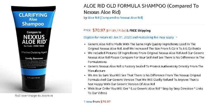 nexxus aloe rid instructions